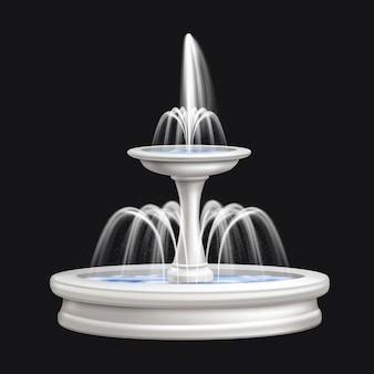 Composizione isolata realistica delle fontane