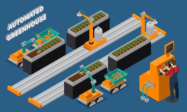 Composizione isometrica automatizzata in serra