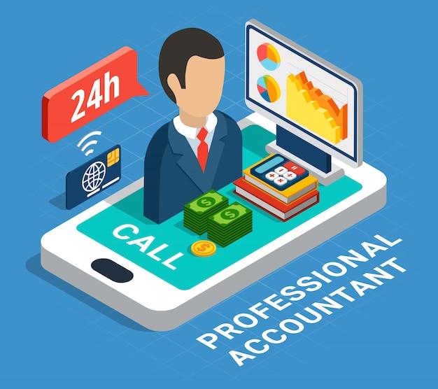 Composizione isometrica contabile professionale