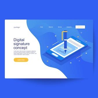 Composizione isometrica del contratto smart digitale o concetto di firma digitale elettronica. ricevuta di pagamento cartacea, verificata