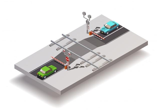 Composizione isometrica del passaggio a livello