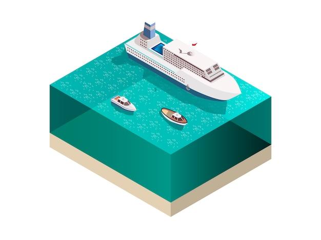 Composizione isometrica delle navi turistiche