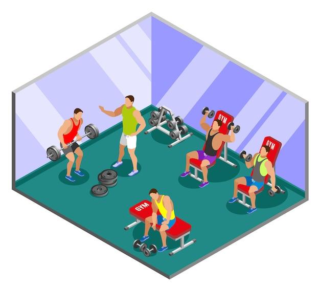 Composizione isometrica di addestramento di sollevamento pesi