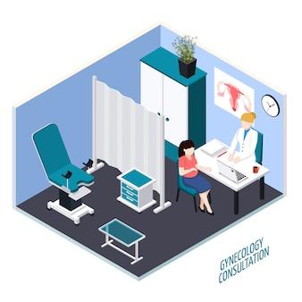 Composizione isometrica di consultazione di ginecologia