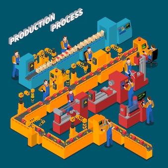 Composizione isometrica di fabbrica