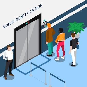 Composizione isometrica di identificazione dell'accesso