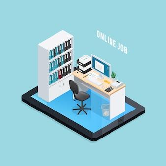 Composizione isometrica di lavoro online