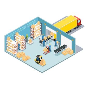 Composizione isometrica in magazzino