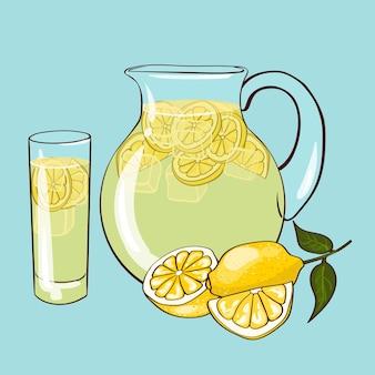 Composizione limonata piatta