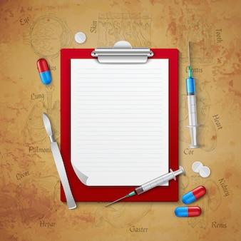 Composizione medica del taccuino di medici
