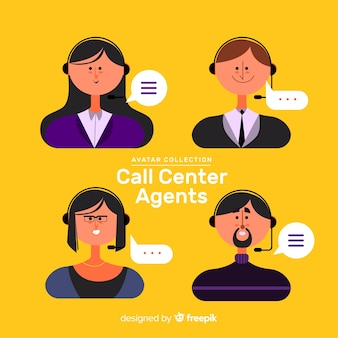 Composizione moderna call center