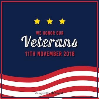 Composizione moderna del veterano con design flt