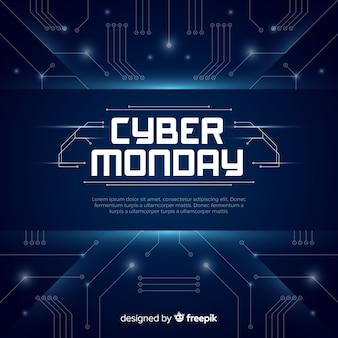 Composizione moderna di cyber-lunedì con design piatto
