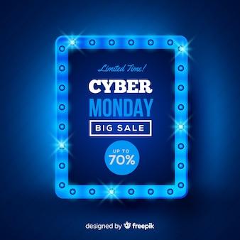 Composizione moderna di cyber-lunedì con design realistico