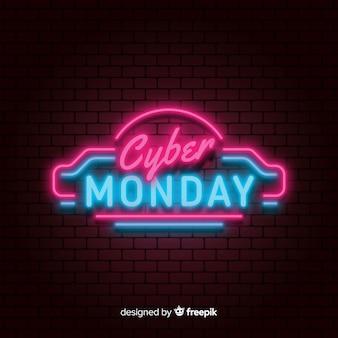 Composizione moderna di cyber-lunedì con stile neon