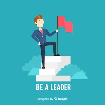 Composizione moderna di leadership con design piatto