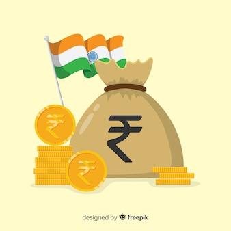 Composizione moderna di rupie indiane