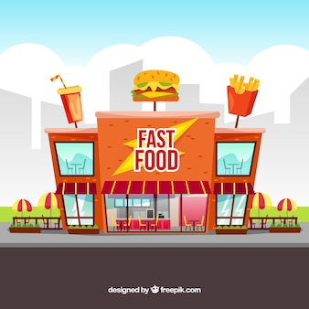 Composizione moderna fast food