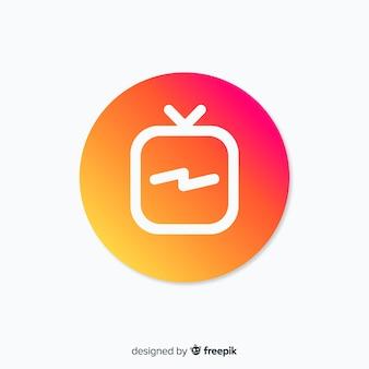 Composizione moderna instagram con gradiente di stile