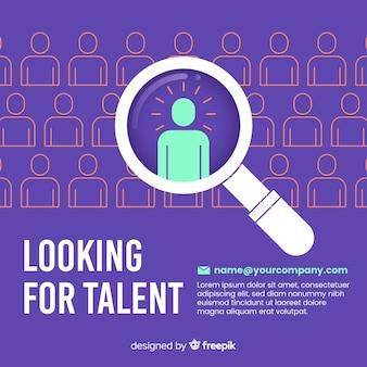 Composizione moderna per la ricerca di talenti