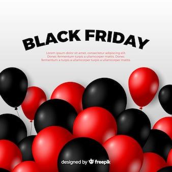 Composizione moderna venerdì nero con palloncini realistici