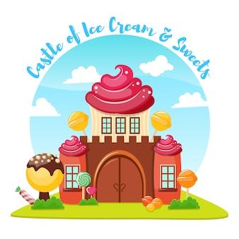 Composizione nel castello di gelato