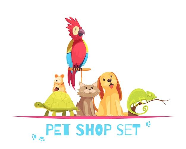 Composizione nel negozio di animali