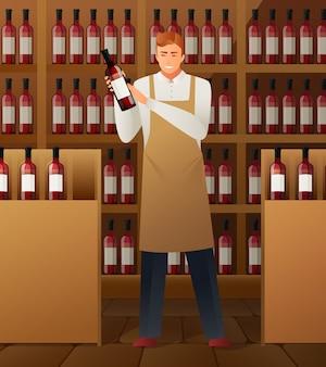 Composizione nella produzione di vino