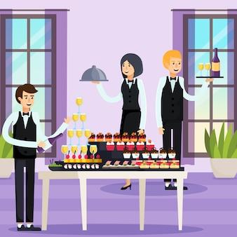Composizione ortogonale di catering