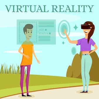 Composizione ortogonale in realtà virtuale aumentata