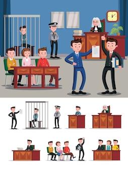 Composizione piatta del sistema legale
