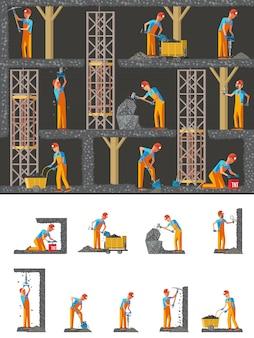 Composizione piatta industria mineraria