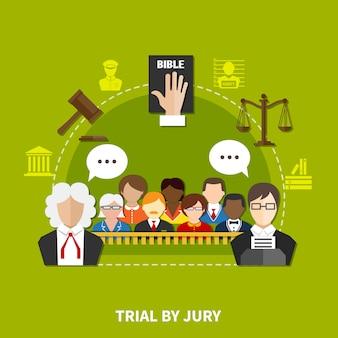 Composizione piatta legge