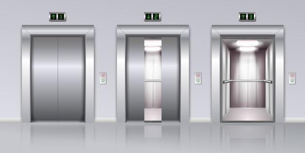 Composizione realistica di ascensori