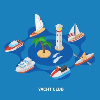 Composizione rotonda dello yacht club