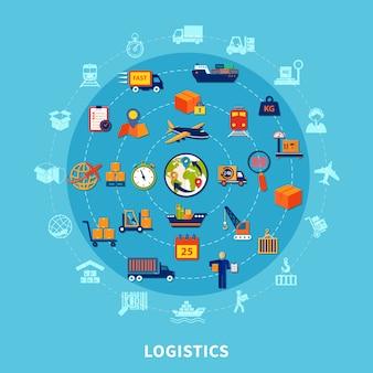 Composizione rotonda logistica