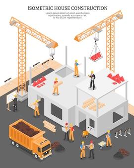 Composizione verticale costruzione isometrica