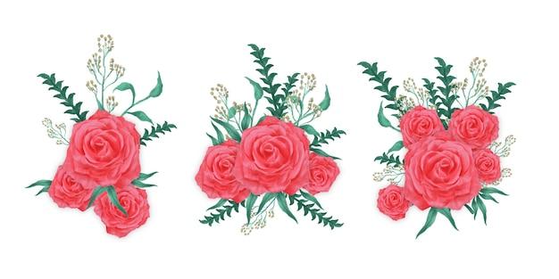 Composizioni di fiori ad acquerello