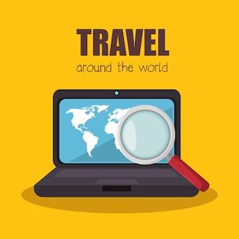Compri il disegno online dell'illustrazione di vettore dei biglietti di viaggio