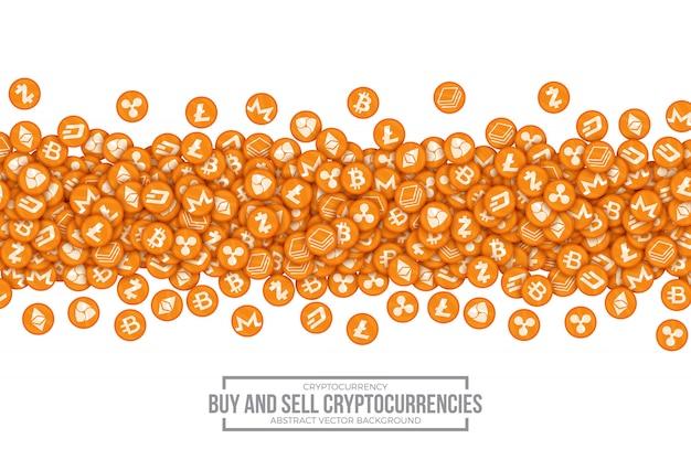 Compri la vendita dell'illustrazione concettuale di vettore di cryptocurrencies