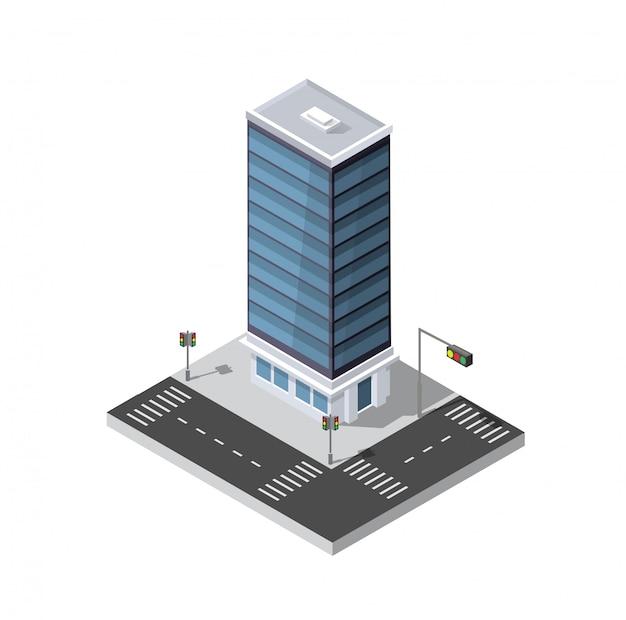 Computer 3d icona isometrica paesaggio 3d di