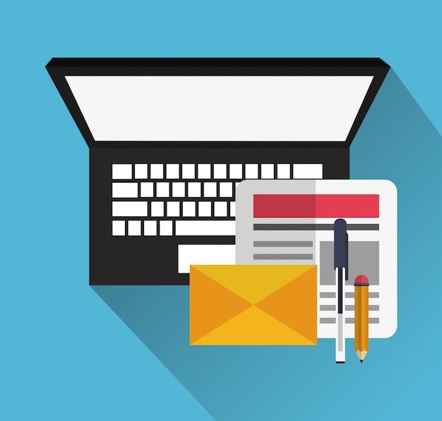 Computer con icone relative alla messaggistica istantanea