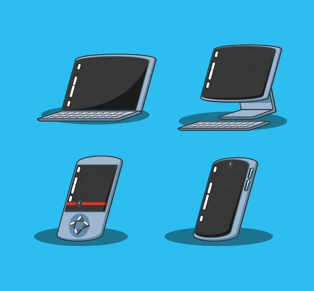 Computer desktop con dispositivi impostati