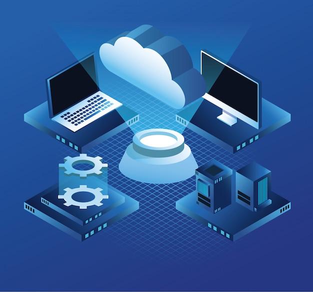 Computer e server di tecnologia virtuale