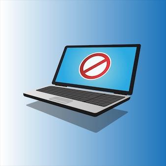 Computer portatile con schermata di errore