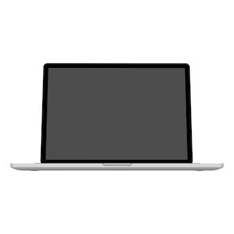 Computer portatile creativo astratto, modello di notebook.