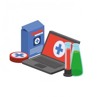 Computer portatile e strumenti di laboratorio isolati