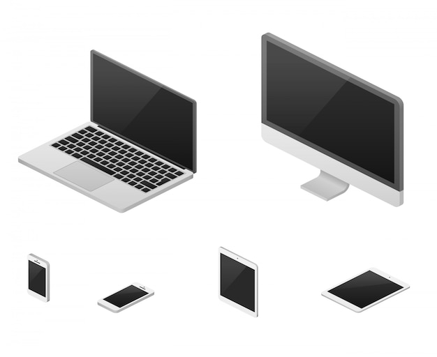 Computer portatile isometrico 3d