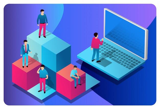 Comunicazione di tecnologie informatiche dell'illustrazione di concetto