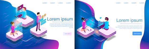 Comunicazione online isometrica, gioco virtuale